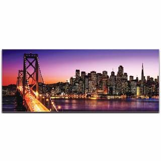Modern Crowd 'San Francisco City Skyline' Urban Cityscape Enhanced Photo Print on Metal or Acrylic