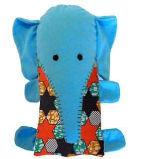 Handcrafted Little Friends Blue Elephant (Malawi)