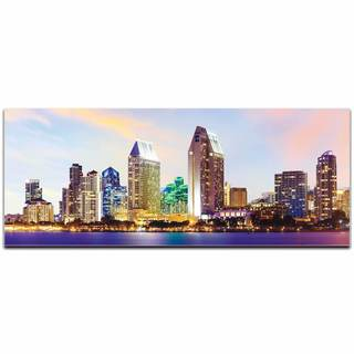 Modern Crowd 'San Diego City Skyline' Urban Cityscape Enhanced Photo Print on Metal or Acrylic