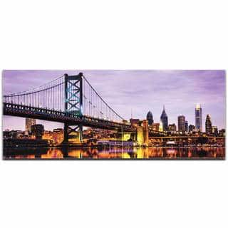 Modern Crowd 'Philadelphia City Skyline' Urban Cityscape Enhanced Photo Print on Metal or Acrylic|https://ak1.ostkcdn.com/images/products/11599779/P18538446.jpg?impolicy=medium