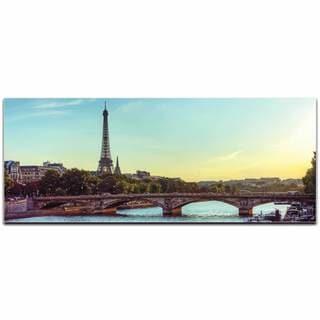Modern Crowd 'Paris Classic City Skyline' Urban Cityscape Enhanced Photo Print on Metal or Acrylic