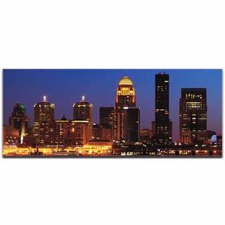 Modern Crowd 'Louisville City Skyline' Urban Cityscape Enhanced Photo Print on Metal or Acrylic