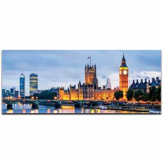 Modern Crowd 'London Classic City Skyline' Urban Cityscape Enhanced Photo Print on Metal or Acrylic