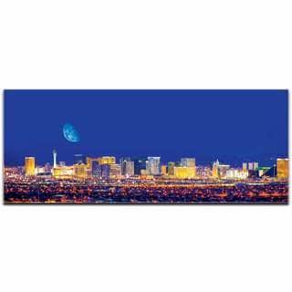 Modern Crowd 'Las Vegas City Skyline' Urban Cityscape Enhanced Photo Print on Metal or Acrylic