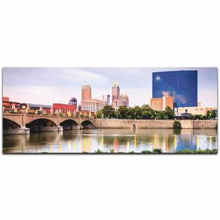 Modern Crowd 'Indianapolis City Skyline' Urban Cityscape Enhanced Photo Print on Metal or Acrylic