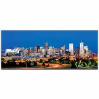 Modern Crowd 'Denver City Skyline' Urban Cityscape Enhanced Photo Print on Metal or Acrylic