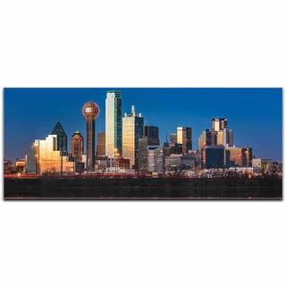 Modern Crowd 'Dallas City Skyline' Urban Cityscape Enhanced Photo Print on Metal or Acrylic