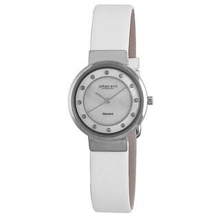 Johan Eric Womens Arhus Diamond JE6100-04-009L Leather Calfskin Whitewatch