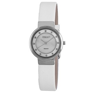 Johan Eric Womens Arhus Diamond JE6100-04-009L Leather Calfskin Whitewatch