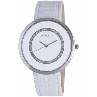 Johan Eric Women's Vejle JE5002-04-001 Leather Calfskin White Watch