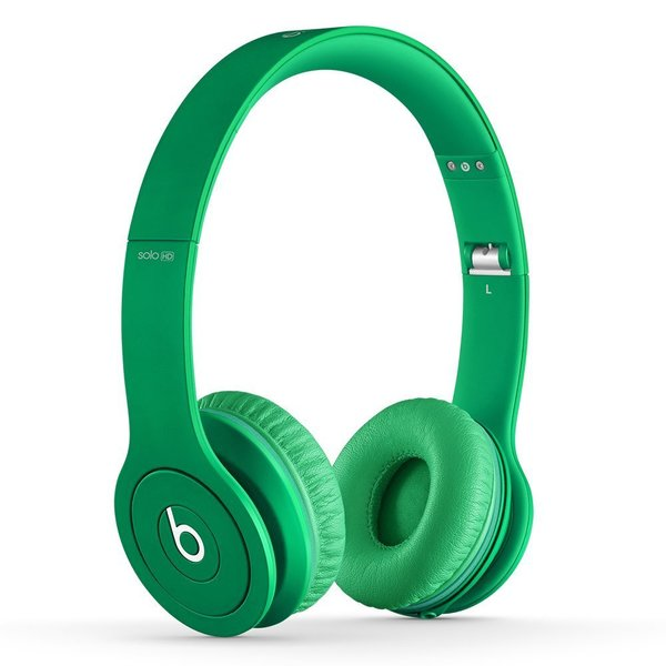 Beats By Dre Matte Green Solo Wired Headphones (Refurbished)