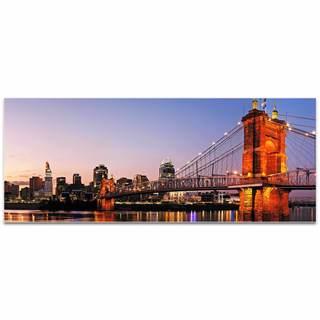 Modern Crowd 'Cincinnati City Skyline' Urban Cityscape Enhanced Photo Print on Metal or Acrylic