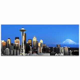 Modern Crowd 'Seattle City Skyline' Urban Cityscape Enhanced Photo Print on Metal or Acrylic