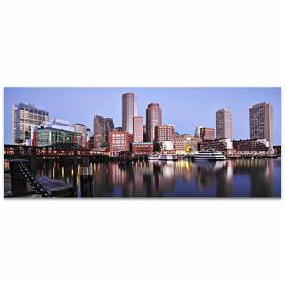 Modern Crowd 'Boston City Skyline' Urban Cityscape Enhanced Photo Print on Metal or Acrylic