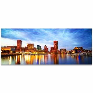 Modern Crowd 'Baltimore City Skyline' Urban Cityscape Enhanced Photo Print on Metal or Acrylic
