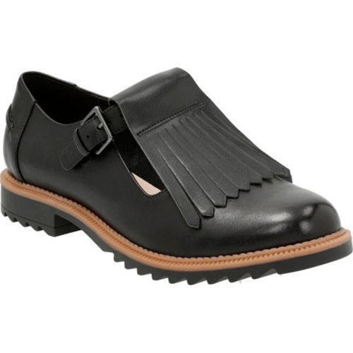 6ea69e17f02 Women's Clarks Griffin Mia Kiltie Loafer Black Leather/Synthetic