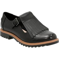 Women's Clarks Griffin Mia Kiltie Loafer Black Leather/Synthetic