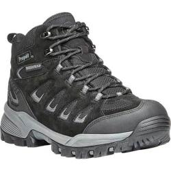 Men's Propet Ridge Walker Hiking Boot Black Suede/Mesh