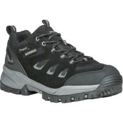 Men's Propet Ridge Walker Low Hiking Shoe Black Suede/Mesh