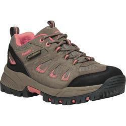 Women's Propet Ridge Walker Low Hiking Shoe Gunsmoke Melon Suede/Mesh