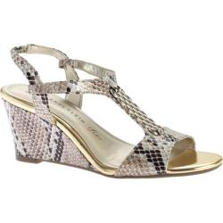 Women's Anne Klein Emanie Wedge Sandal Taupe Synthetic