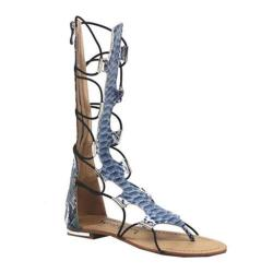 Women's Luichiny Crown Me Gladiator Sandal Blue Snake Imi Leather