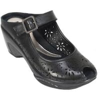 Women's White Mountain Miso Black Leather
