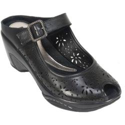 Women's White Mountain Miso Black Leather (More options available)