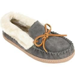 Women's White Mountain Sleepover Slipper Charcoal Suede