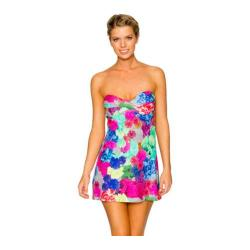 Women's Swim Systems Bandeau Dress Floral Fusion