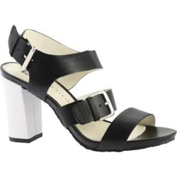 Women's Anne Klein Onmymind Sandal Black Leather
