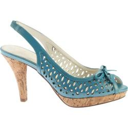 Women's Anne Klein Ristina Slingback Turquoise/Turquoise Leather