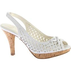Women's Anne Klein Ristina Slingback White/White Leather