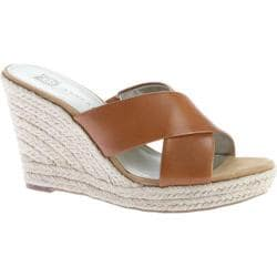 Women's Anne Klein Waleigh Espadrille Slide Cognac Leather