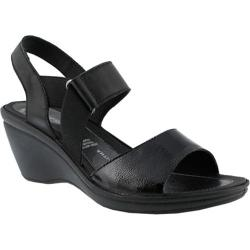 Women's Flexus by Spring Step Karan Slingback Wedge Sandal Black Leather