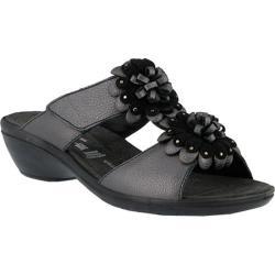 Women's Flexus by Spring Step Loredana Wedge Slide Sandal Pewter Leather