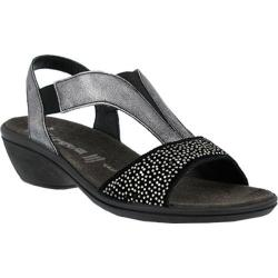 Women's Flexus by Spring Step Risa Slingback Wedge Sandal Black Leather