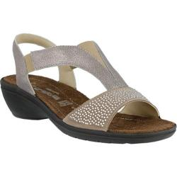 Women's Flexus by Spring Step Risa Slingback Wedge Sandal Taupe Leather