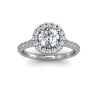 14k White Gold 1 1/4ct TDW Perfect Halo Diamond Engagement Ring (H-I, I1-I2)