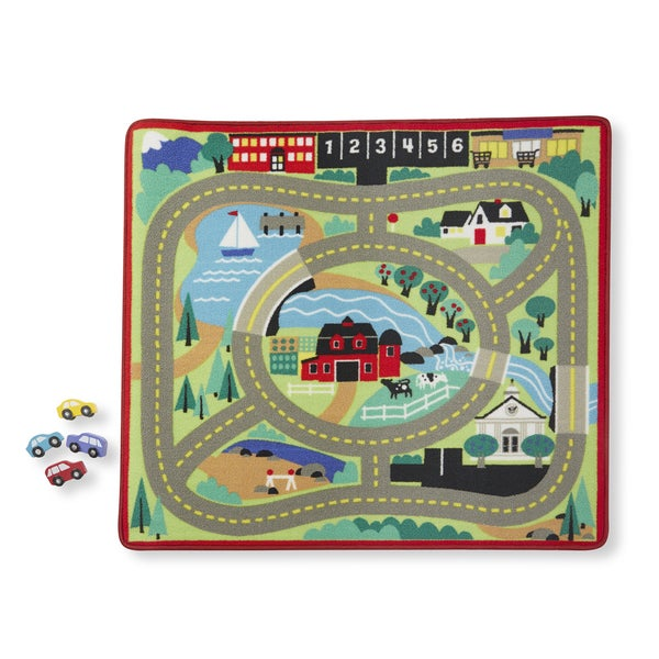 Shop Melissa & Doug Round The Town Road Rug