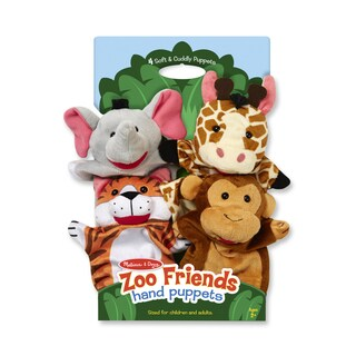Melissa & Doug Zoo Friends Hand Puppets - multi