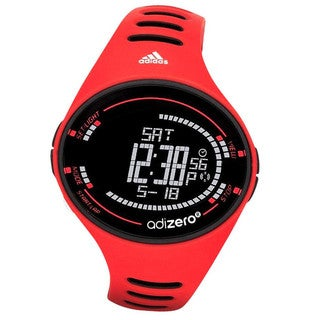 Adidas Men's AdiZero Performance Digital Red Rubber Watch