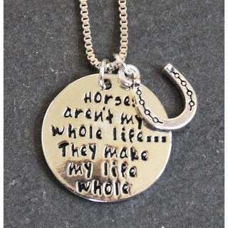 Mint Jules 'Horses Aren't My Whole Life... They Make My Life Whole' Inspirational Pendant