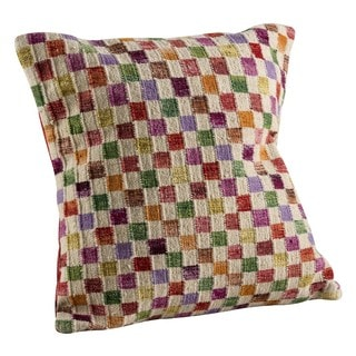 M.A.Trading Hand-woven Small Box White/ Multi Pillow (2' x 2')