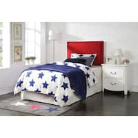 Sabina Red Linen Queen/Full Headboard with Nail Head Trim