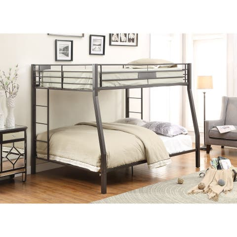 Limbra Full over Queen Black Metal Bunk Bed