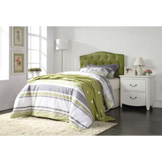 Viola Green Faux Leather Tufted Queen/Full Headboard