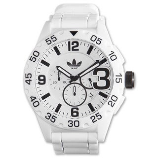 Adidas Men's Newburgh White Chronograph Rubber Strap Watch