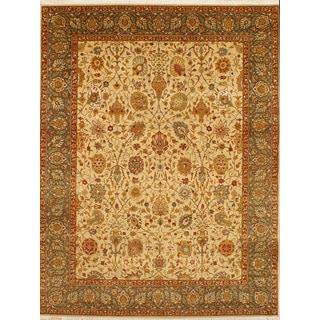 Hand Knotted Tabriz Design Rug (3'11 x 5'10)