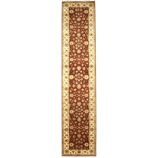 Hand Knotted Agra Design Runner (2'6 x 17'11)
